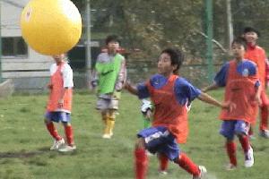 このボール、予想以上に大変でした。最後までゴール出来なかったような...